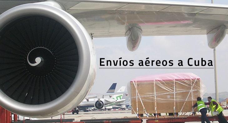 Envíos aéreos a Cuba