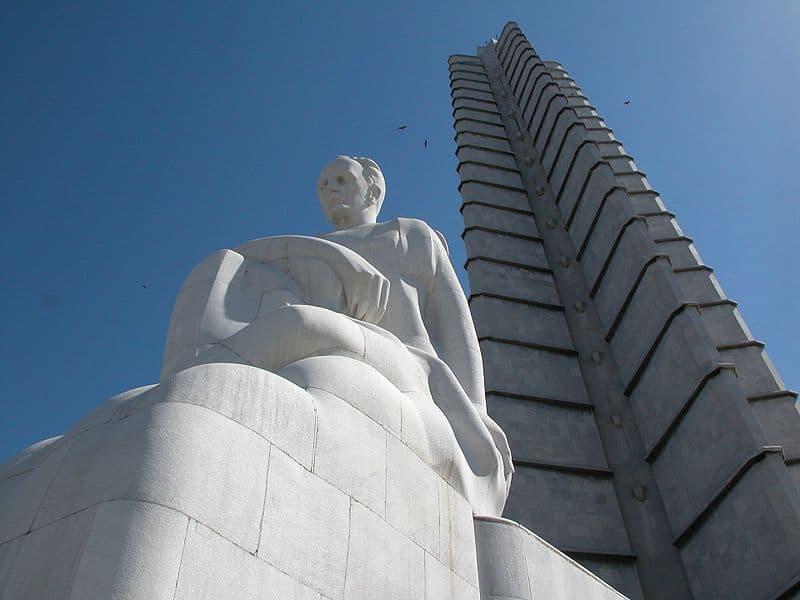 Memorial José Martí, una de las estatuas más emblemáticas de Cuba.