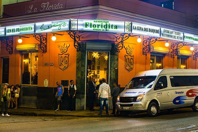 El Floridita, en La Habana, Cuba