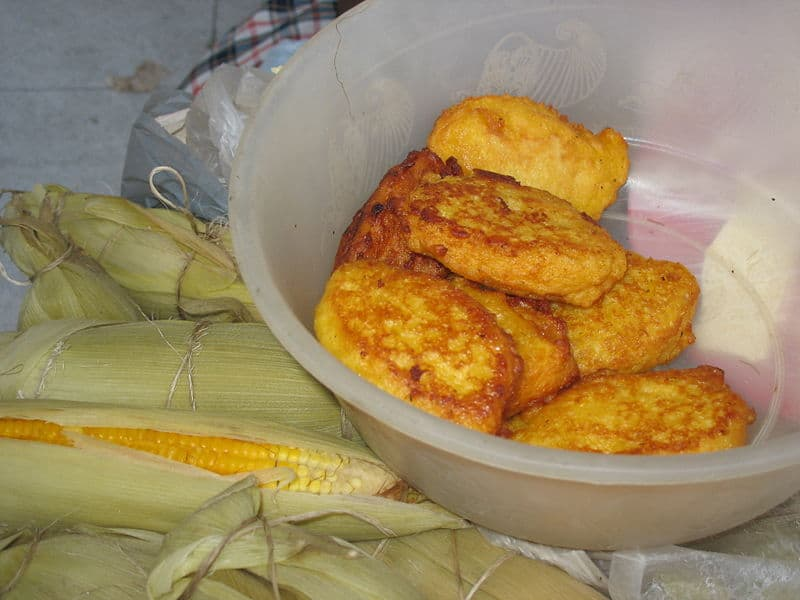 Frituras de maíz tierno