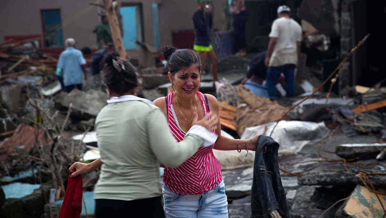 Paso del huracán Matthew en Cuba