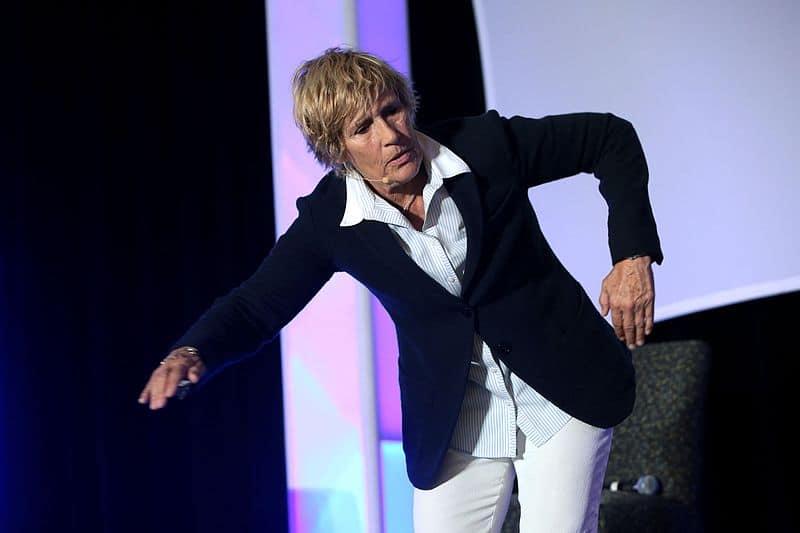 Diana Nyad en una conferencia