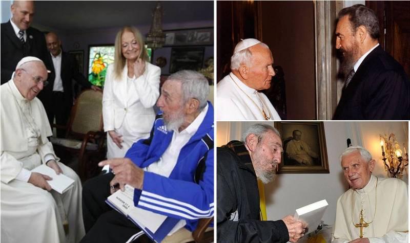 Fidel Castro y los papas