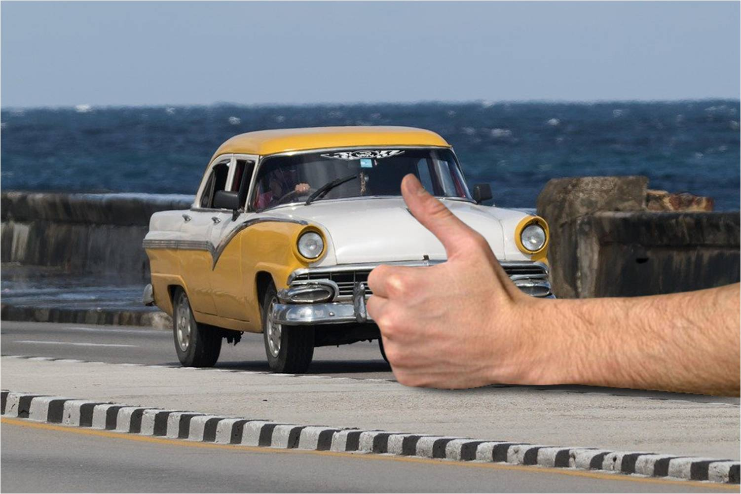 Coger botella en Cuba