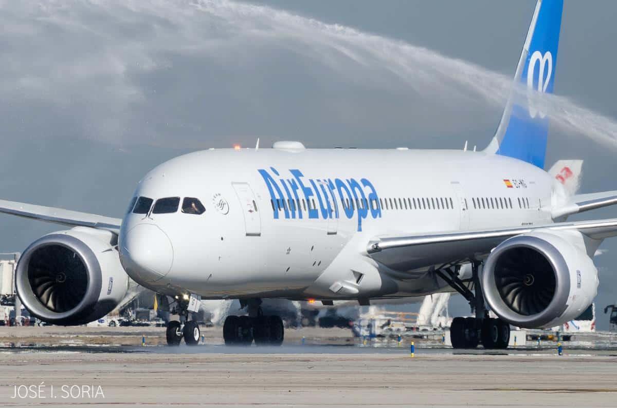 Air Europa envía nuevo Boeing 787 Dreamliner a La Habana