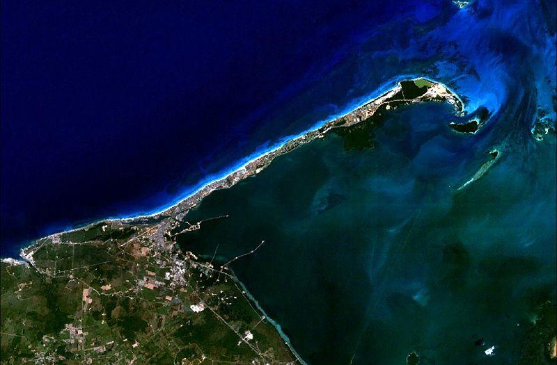 Vista satelital de Varadero