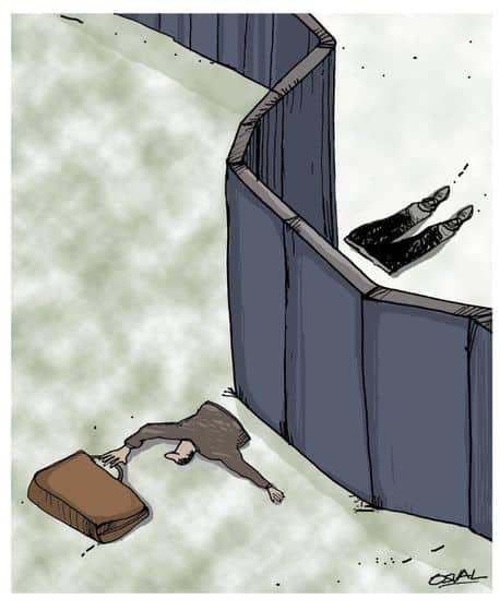 """Caricaturista cubano fue elegido entre los 10 mejores de la plataforma Cartoon Movement por obra su obra """"Fronteras"""""""