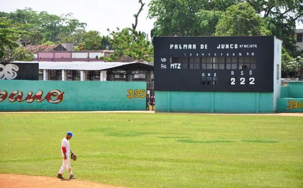 El primer partido de béisbol en Cuba
