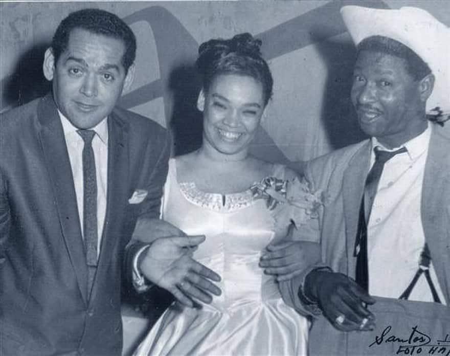 Pacho Alonso, la Lupe y Benny Moré en 1959