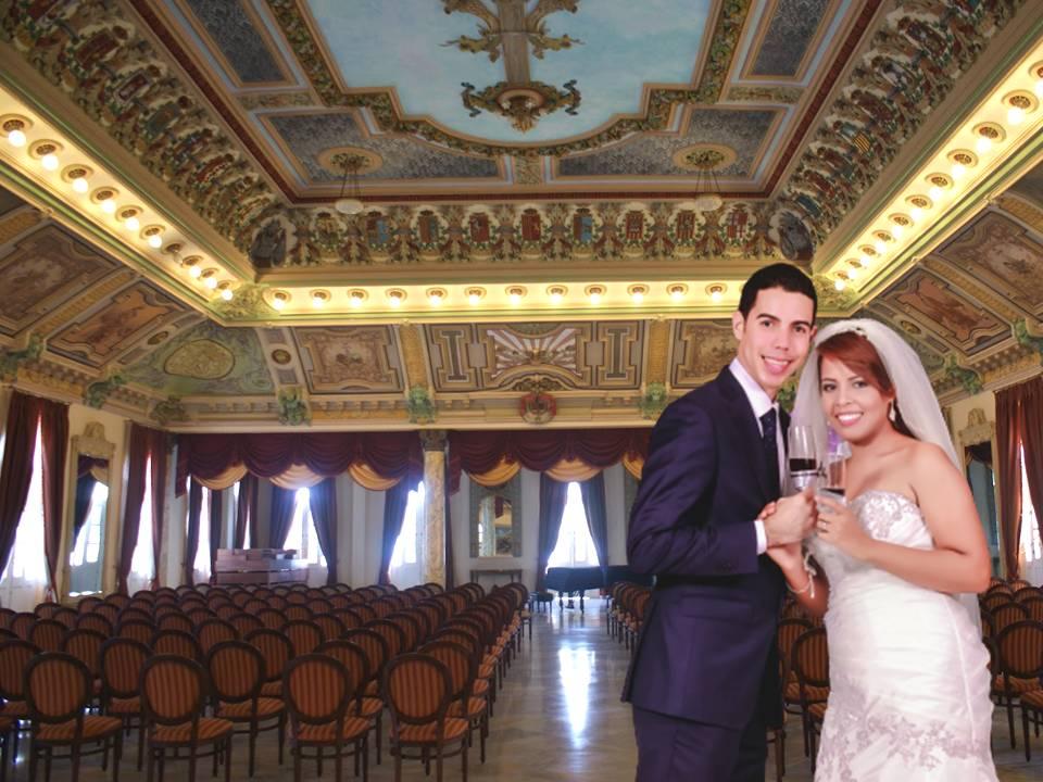 El Salón Dorado del Palacio de los Matrimonios de La Habana