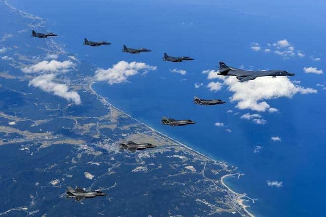 Aumentan las tensiones: Estados Unidos envía bombarderos frente a Corea del Norte