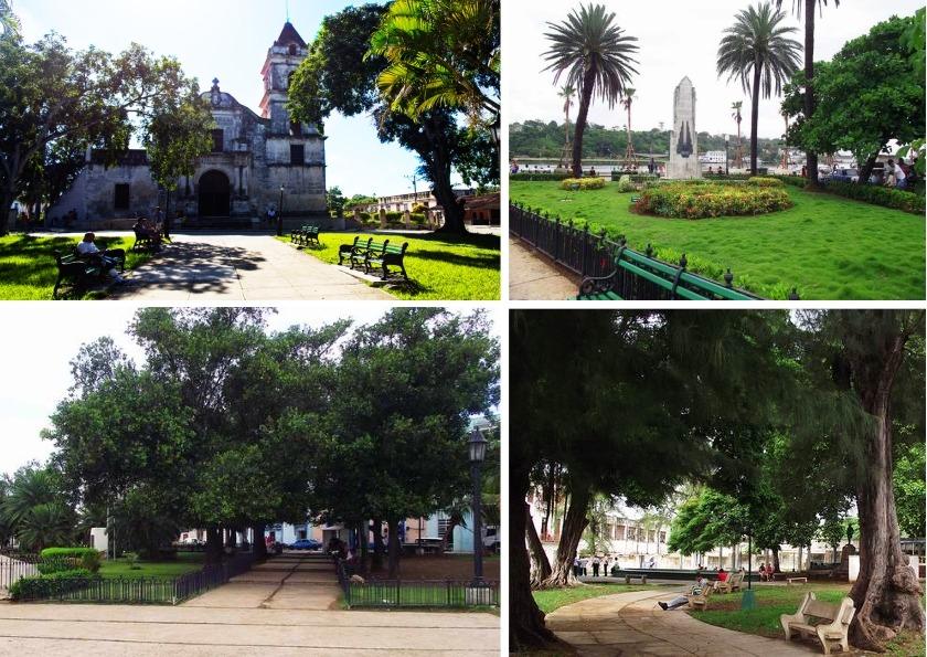 Parques Santa María del Rosario, a los Marinos Mercantes en La Habana Vieja, Aracelio Iglesias y Carlos Aguirre