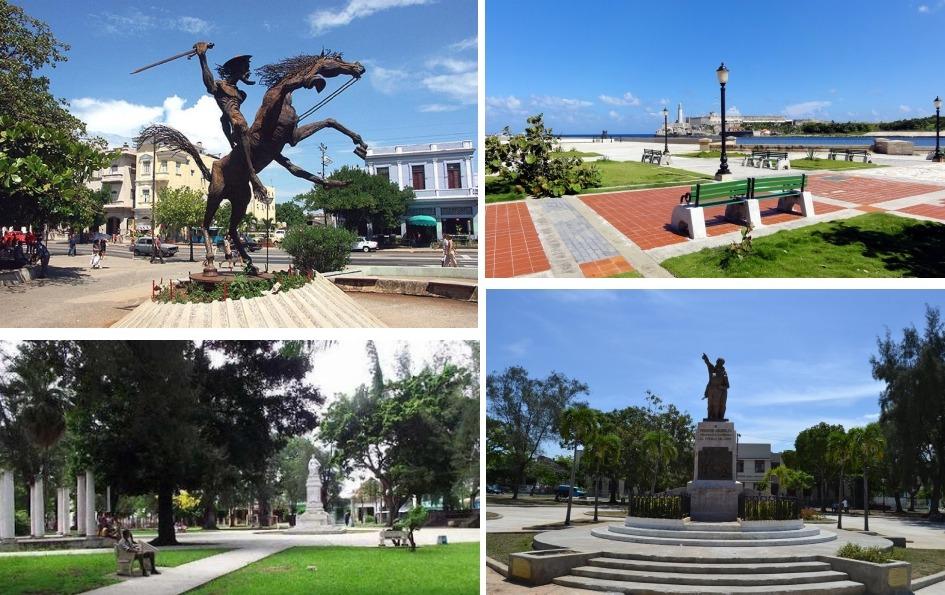 4 parques de La Habana