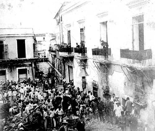 El lamentable incendio de la ferretería Isassi en 1890