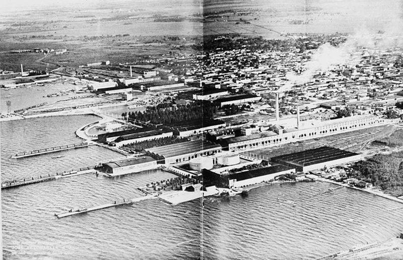 Vista aérea del conjunto industrial del clan Arechabala