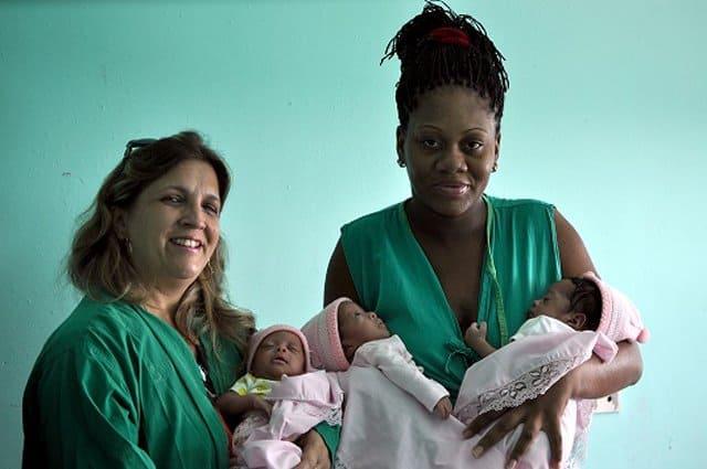 Idelisa: la primera mujer en tener trillizos este año en Cuba