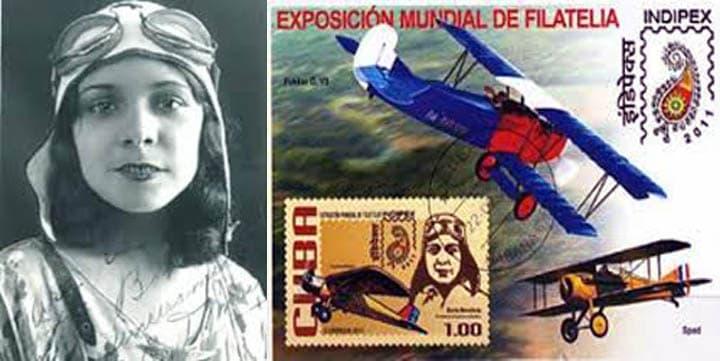 Berta Moraleda, la primera mujer cubana que piloteó un avión