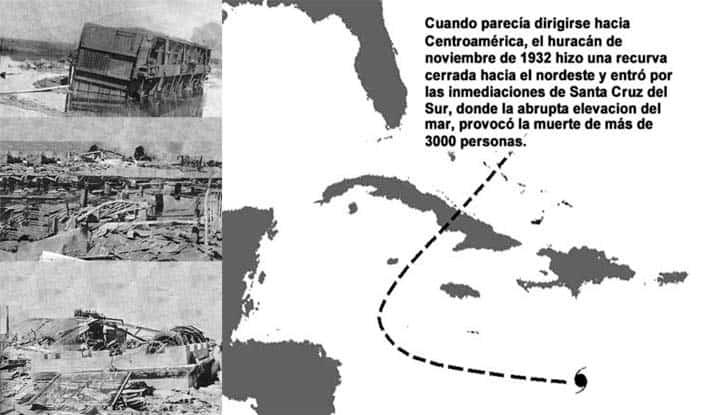 Esta es la historia del poderoso huracán de 1932 que borró de la tierra a Santa Cruz del Sur