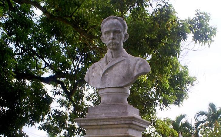 Busto de José Martí en San Luis