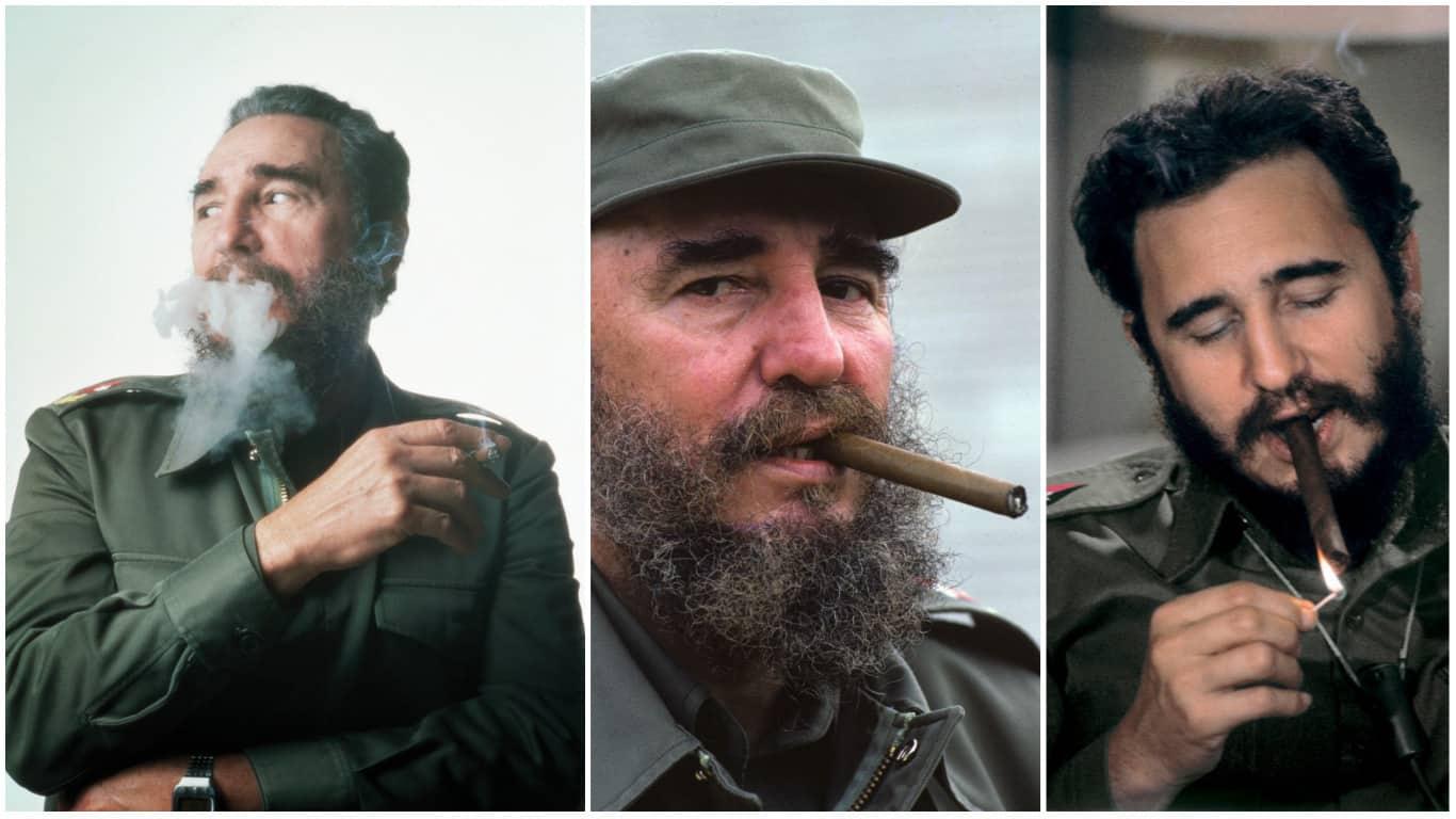10 datos y 10 fotografías curiosas, y casi desconocidas, de Fidel Castro y su afición por los Cohíbas (+ Galería de Fotos en Alta Calidad)
