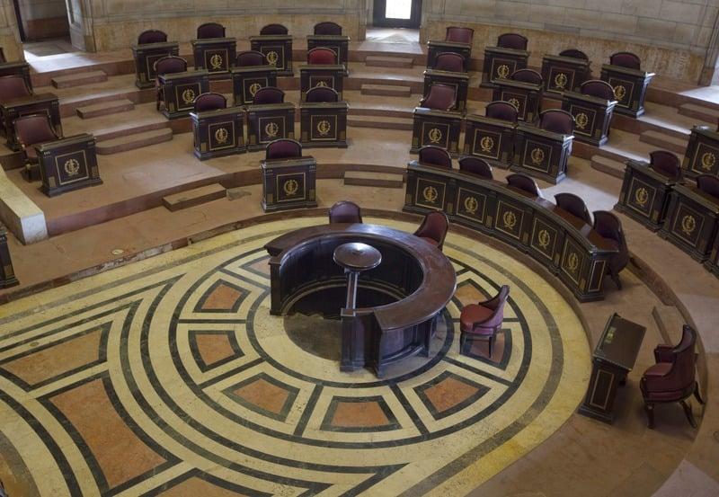 Vista de la Cámara de sesiones