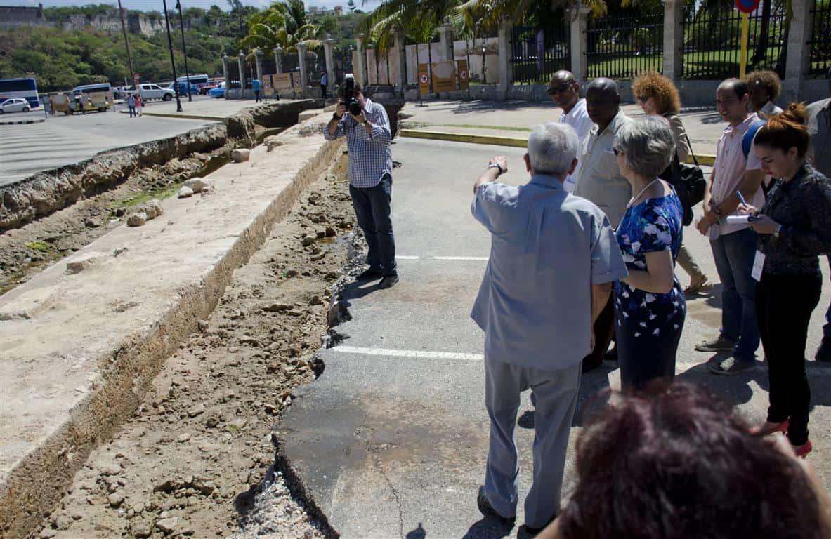 Así era y es la desconocida Muralla del Mar que Eusebio Leal está desenterrando en La Habana