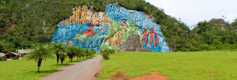 Mural de la Prehistoria del valle de Viñales