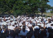Protesta de estudiantes congoleños