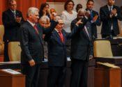 Díaz-Canel, Raúl Castro & Esteban Lazo