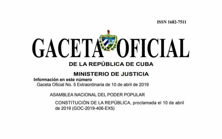 Gaceta Oficial: nueva constitución