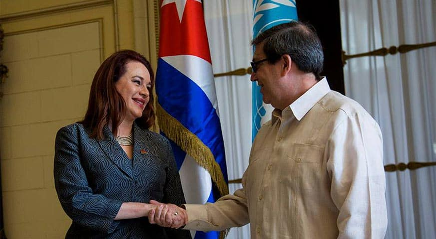 Canciller Rodríguez & presidenta de la AGNU