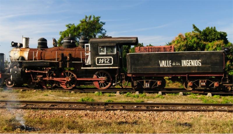 Locomotora en el Valle de Los Ingenios
