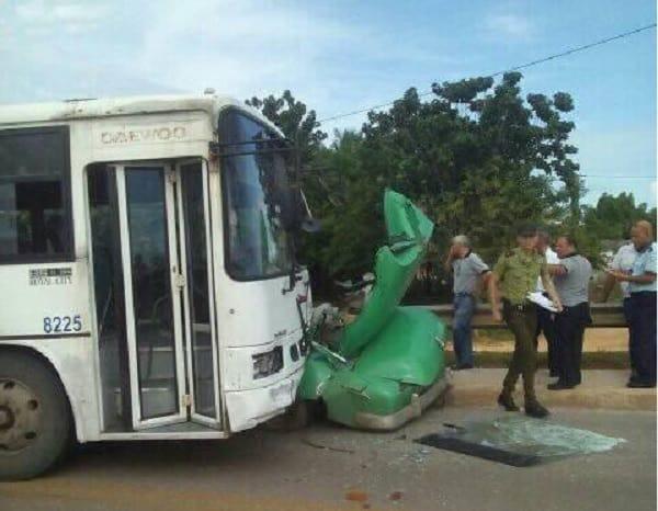 Accidente de tránsito en Guanajay
