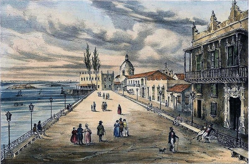 La Alameda de Paula en 1840