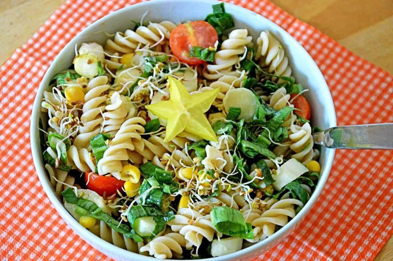 ensalada fría de espaguetis