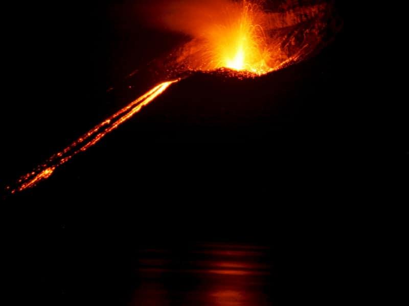 Varios volcanes se activaron simultáneamente en abril del año 2020