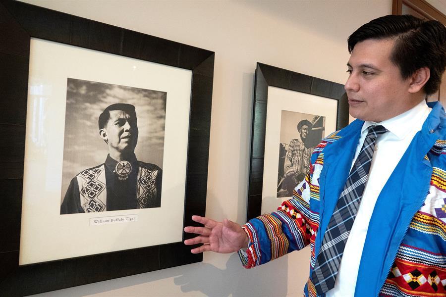 Curtis Osceola, el primer abogado de la tribu Miccosukee